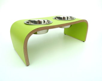 Lime Green Pet Feeder - Dog Bowl Stand
