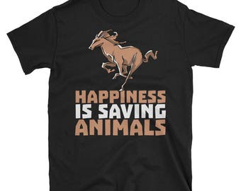 Happiness is Saving Animals - veterinarians veterinarian veterinary veterinarians gift gifts office tshirt shirts gifts shirt t shirt t-shir