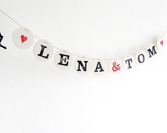 1 letter for Personalized wedding banner, wedding banners and signs, wedding garland, custom wedding banner, renna deluxe