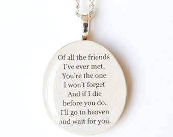 Best friend necklace • Best friend gift • Personalized Gift • Gift for Women • Going Away Gift • Graduation Gift