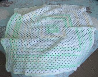Variegated granny square blanket