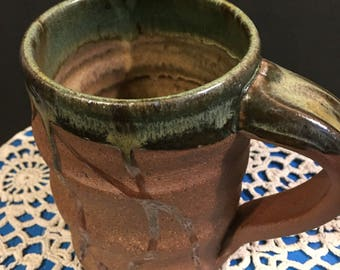 17-35: Coffee cup, 8oz. Wood fired. Ready to ship.