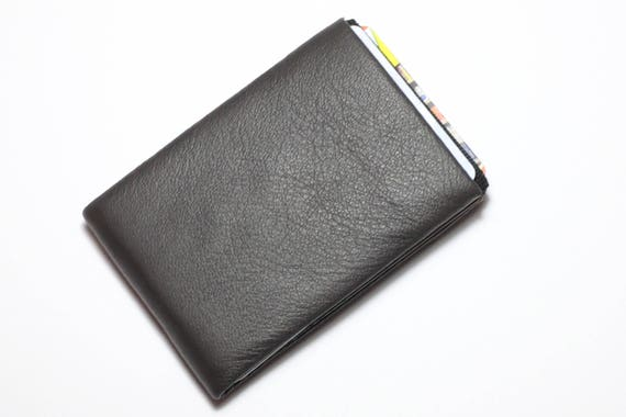 Minimalist wallets, RFID blocking, Slim Mens Wallet, Slim Wallet, Full Grain Leather Wallet, Womens Wallet, NERO Wallet Original Nero Wallet