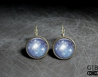 Sky Full of Stars Earrings - Sky Full of Stars Dangle - Blue Sky Earrings Dangles - Blue Sky Jewelry Earrings - Stars Blue Earrings Dangles