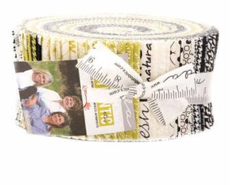 Authentic Etc Jelly Roll Precut by Sweetwater for Moda Fabrics  40 -  2.5'' Strips #5670JR 100% Cotton