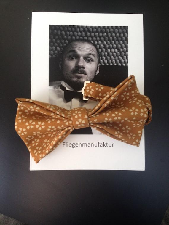 Bow Tie, Kimono - Fabric, Liberty - Print, Cotton, mustard, yellow