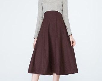 long sleeves dress, colorblock dress, grey and brown dress, party dress, prom dress, womens dresses, tea length dress, elegant dress  1699