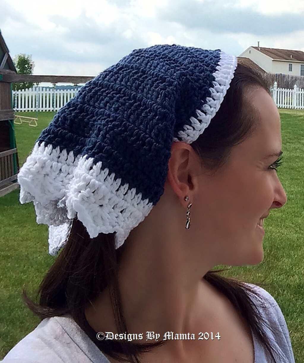 Gypsy Head Scarf Crochet Pattern, Triangle Head Scarf Pattern ...