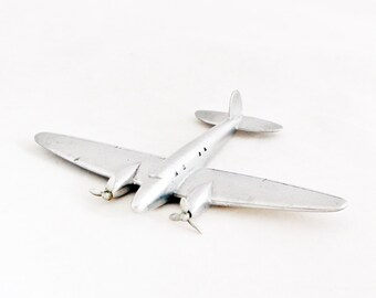 1950s Vintage Art Deco Airplane Aircraft Metal Industrial Home Decor