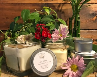 Floral Scented Candle   Soy Wax Candle   Lily / Lilac / Rose / Hyacinth Mix Candle   Mason Jar Candle   Travel Candle   Gigi's Garden Scent