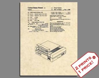 Nintendo Art Print - NES Console Patent Art - Nintendo Wall Art Patent Prints - Nintendo Poster Patent Print - Video Game Room Art - 337
