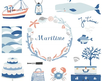 CLIP ART - Maritime - for commercial and personal use