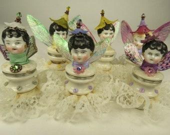 Single Garden Fairy, Miniature Art Doll Angel,  Victorian Design, Home Decoration