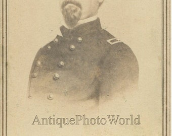 Civil War high ranking Union officer antique CDV photo