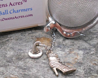 Tea Ball Infuser, Witchy Woman Charms - Tea Infuser, Tea Strainer, Loose Leaf Tea, Witch, Wicca, Witch Hat, Boot
