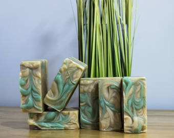 Handmade Goat's Milk Soap with Chamomile and Patchouli