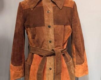 1970's Patchwork Suede Women Jacket