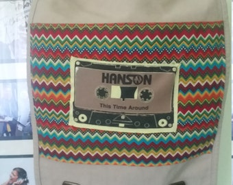 Upcycled Bag: Thrift Store Purse & Bit of Hanson Shirt