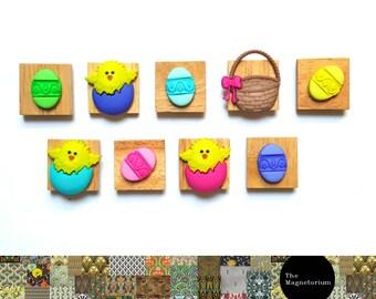 Easter Basket Magnets [Fridge Magnets, Fridge Magnet Sets, Refrigerator Magnets, Magnet Sets, Office Decor, Kitchen Decor, Magnetic Board]