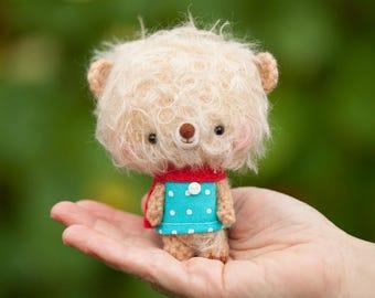 Small teddy bear / stuffed animal bear, miniature plushie - Ready to ship - Lumi