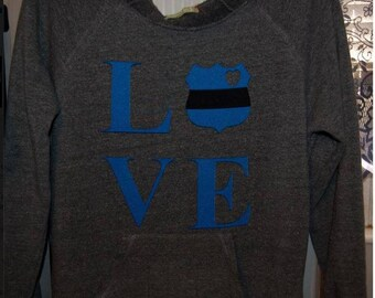 Police Wives Slouchy Sweater LOVE