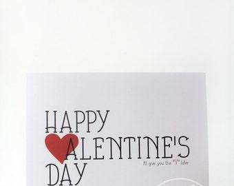 Funny Valentine Card - Valentine Card - funny valentine - valentines card - love card - funny love card - card for boyfriend - card for him