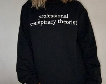 Professional Conspiracy Theorist, Conspiracy Sweatshirt, Conspiracy Shirt, Alien Shirt, Alien Sweatshirt, Ghost Shirt, Paranormal