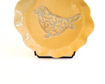 Honey Small Porcelain Bird Plate