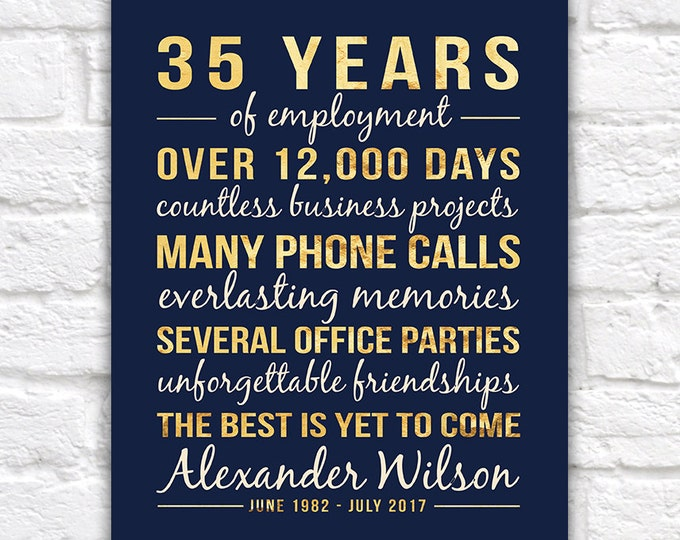 Featured listing image: Personalized Retirement Gift, Retirement Year, Retirement Gifts for Men, Retirement Sign, Gifts for Women, Office Employee, Doctor | WF106