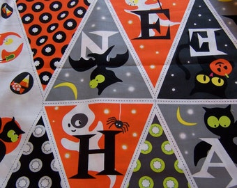 halloween banner fabric