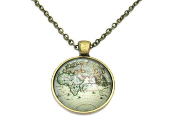 Explore necklace etsy world map necklace map pendant map jewelry explore necklace travel necklace gumiabroncs Gallery
