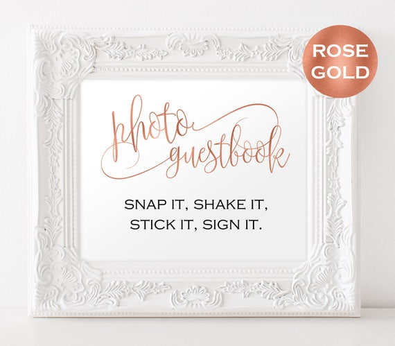 Photo Wedding Guestbook Sign Template Photo Guestbook Sign