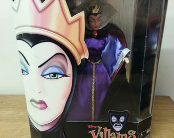 Collectable Disney Villains Wicked Queen doll, unopened in box