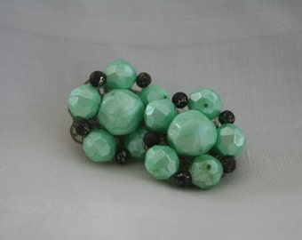 Green Cluster Earrings