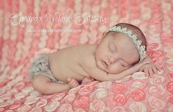 Baby Girl Crown, Silver Crown, Baby Headband, Princess Headband, Birthday Crown, Baby Crown Headband, Newborn Headband, Tiara Headband