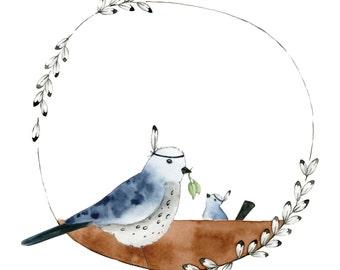 MAMA BIRD 8x8 | Wallart