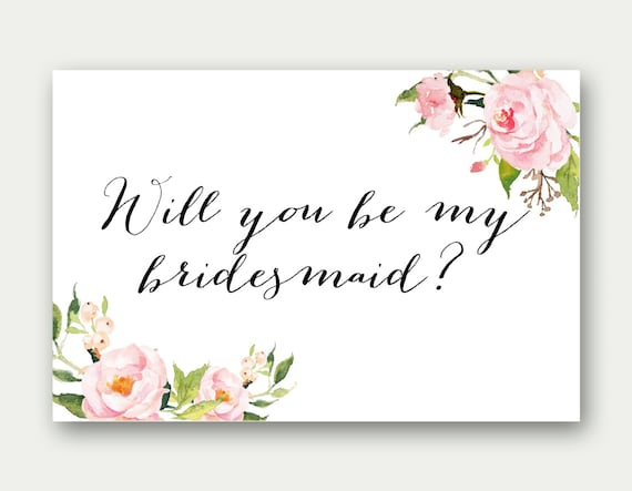 Exhilarating image within bridesmaid proposal printable