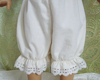 American Girl  doll clothing - bloomers - unbleached cotton muslin