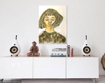 Joanna watercolor art, original watercolor, fashion illustration, fashion watercolor art, fashion wall decor, fashion gift