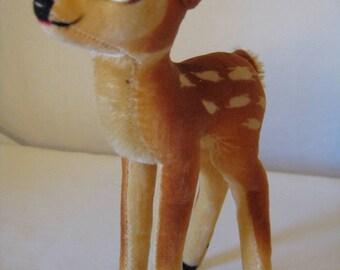 Steiff Vintage Disney Velvet Bambi Deer  -  14 cm  -  Very Good Condition