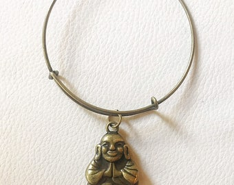 Brass Buddha Bangle