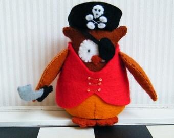 Jack the pirate owl - DIY felt kit