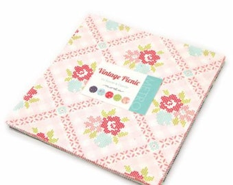 Vintage Picnic Layer Cake - Bonnie and Camille - Moda Fabrics - Vintage Picnic Fabric - IN STOCK
