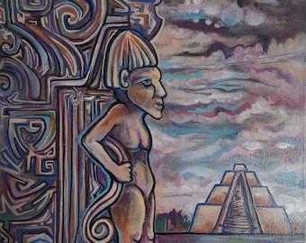 Mayan Temple Original Art