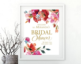 Welcome Bridal Shower Sign, Welcome Sign, Bridal Shower Decor, Bridal Shower Welcome Sign, Bridal Shower Sign, Printable Bridal Shower Sign