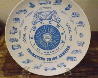 Teamsters Union Plate Teamsters Local 745 Plate