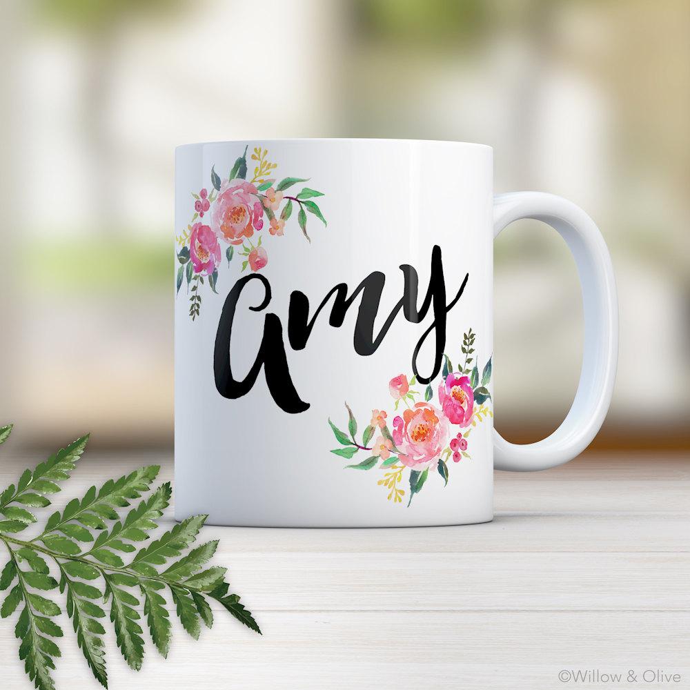 Monogram Mug Monogram Name Mug Name Mug Personalized Name