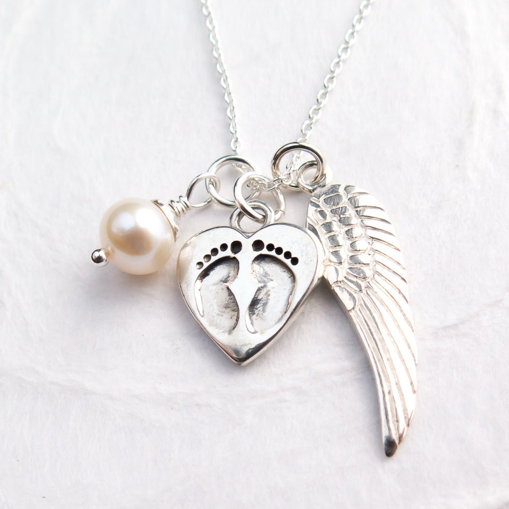 Baby footprint necklace personalized with initial miscarriage baby footprint necklace personalized with initial miscarriage jewelry mom of an angel baby memorial necklace baby loss sterling silver aloadofball Images