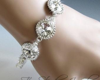 Swarovski Crystal Clear Rivoli Link Bracelet - SONIA