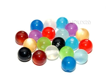 glass 8mm MIX Lot M02306 20 beads